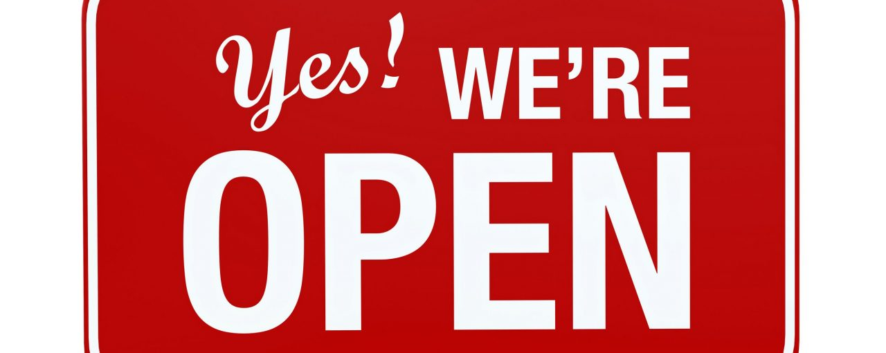 !!!We are open!!!
